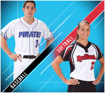 Sublimated Baseball and Softball Uniforms